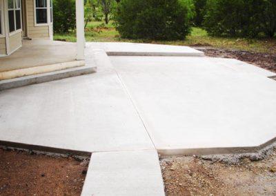 Concrete patios sidewalks