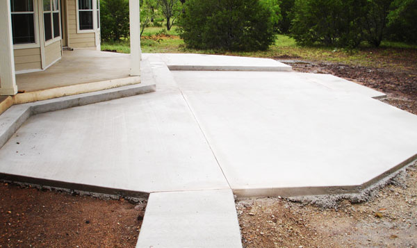 Concrete patios sidewalks